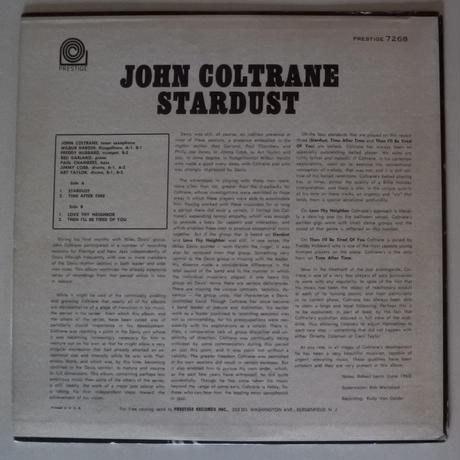 John Coltrane  – Stardust (Prestige – PR 7268)mono