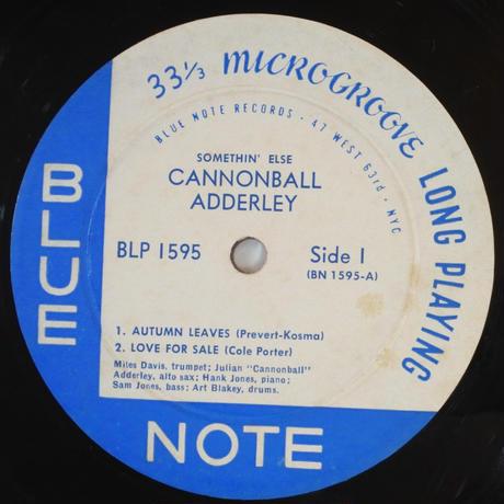 Cannonball Adderley – Somethin' Else(Blue Note – BLP 1595)mono