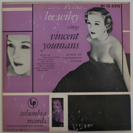 【LP+EPセット】Lee Wiley – Lee Wiley Sings Vincent Youmans( Columbia – CL 6215, B-306)