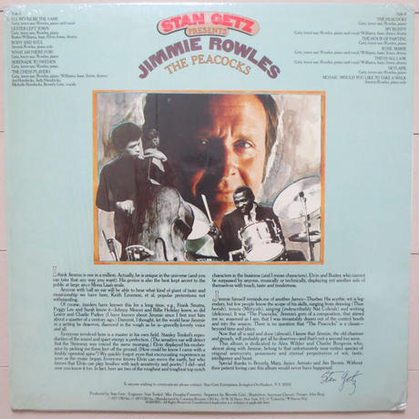 Stan Getz Presents Jimmie Rowles ‎/ The Peacocks (Columbia JC 34873) stereo