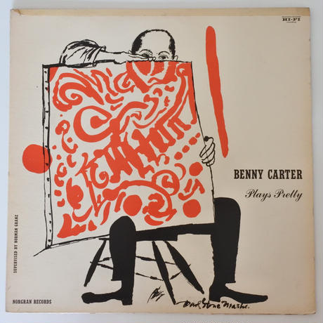 Benny Carter  ‎– Plays Pretty(Norgran Records ‎– MGN-1015)mono