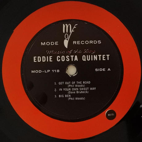Eddie Costa Quintet  ‎– Eddie Costa Quintet ( Mode Records MOD LP 118 ) mono