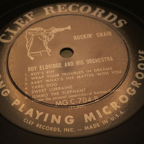 Roy Eldridge And His Orchestra ‎– Rockin' Chair(Clef Records ‎– MG C-704)mono