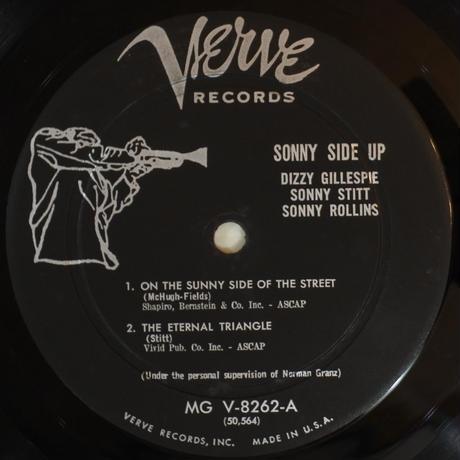 Dizzy Gillespie / Sonny Stitt / Sonny Rollins – Sonny Side Up(Verve Records – MG V-8262)mono