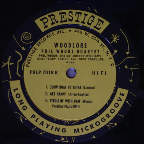 Phil Woods Quartet  ‎– Woodlore(Prestige ‎– PRLP 7018)mono