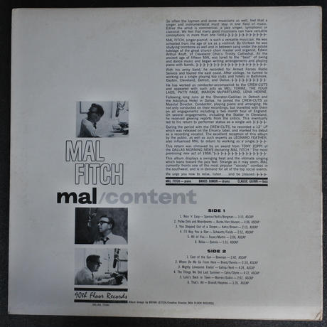 Mal Fitch ‎– Mal/Content( 90th Floor Records ‎– SLL 910)mono