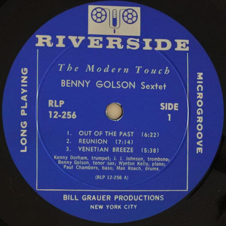 Benny Golson Sextet ‎– The Modern Touch(Riverside Records ‎– RLP 12-256)mono