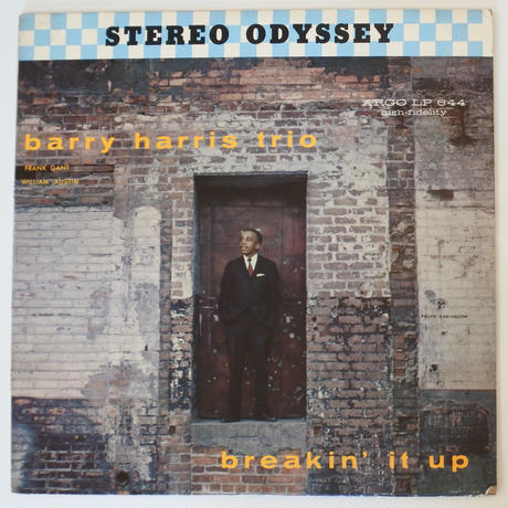 The Barry Harris Trio  ‎– Breakin' It Up(Argo – LP-644-S)stereo