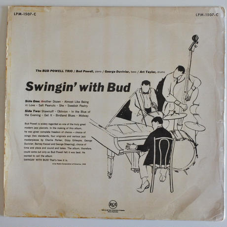 Bud Powell ‎– Swingin' With Bud( RCA – LPM-1507-C)mono