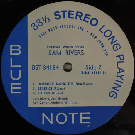 Sam Rivers  ‎– Fuchsia Swing Song (Blue Note ‎– BST 84184)stereo