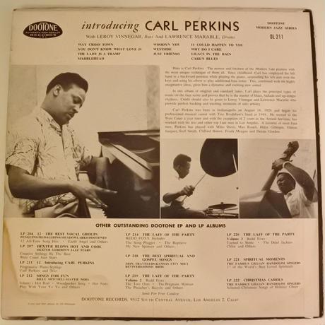Carl Perkins  – Introducing...(Dootone Records – DL-211)mono