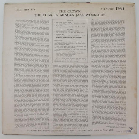 Charles Mingus ‎– The Clown(Atlantic ‎– 1260)mono
