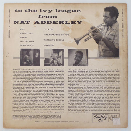 Nat Adderley / To the Ivy League From NAT (EmArcy MG36100) mono