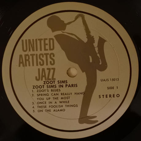 Zoot Sims ‎– Zoot Sims In Paris(United Artists Records ‎15013 )stereo