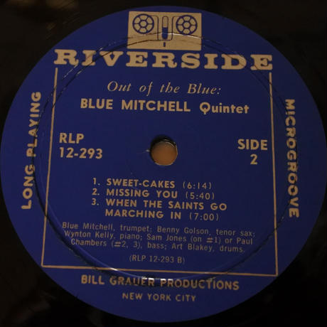 Blue Mitchell  ‎– Out Of The Blue(Riverside Records ‎– RLP 12-293)mono