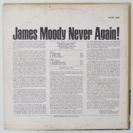 James Moody ‎– Never Again!(Muse Records ‎– MR 5001)stereo
