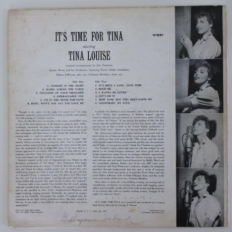 Tina Louise ‎– It's Time For Tina(Concert Hall ‎– H 1521)mono
