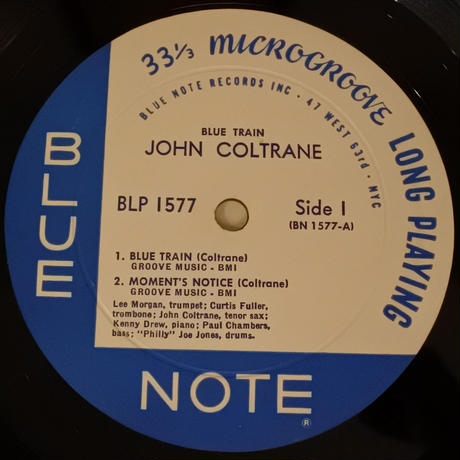 John Coltrane  ‎– Blue Train(Blue Note - BLP1577)mono