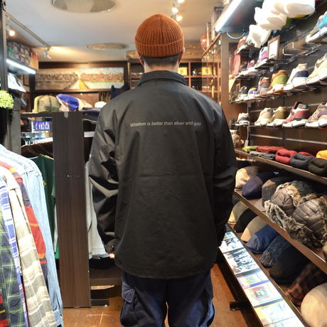 re:create COACH JACKET (PREMIUM LABEL) BLACK
