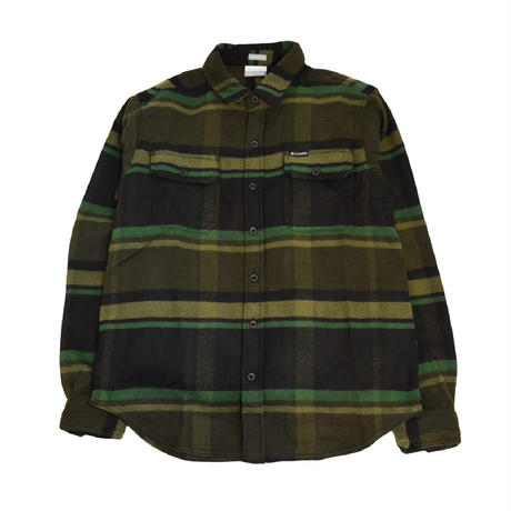 COLUMBIA L/S CHECK SHIRTS (DESLHUTER RIVER) GREEN