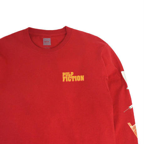 HUF L/S T-SHIRTS (HUF X PulpFiction [PULP PROPS]) RED