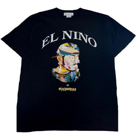 OILWORKS S/S T-SHIRTS (EL NINO) BLACK