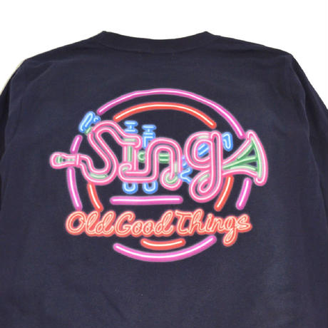O.G.T L/S T-SHIRTS (Sing-Neon) NAVY