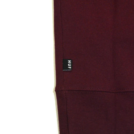 HUF SWEAT PARKA (ESSENTIAL OG LOGO)BURGUNDY