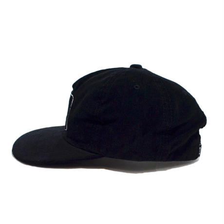 HUF CORDUROY 5PANEL CAP (HUF X PLAYBOY) BLACK