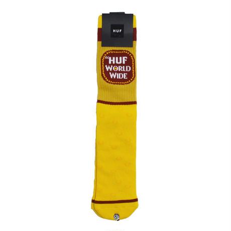 HUF SOCKS (Brown Bag) YELLOW