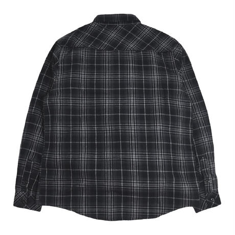 PROCLUB (L/S FLANNEL SHIRTS) BLACK/CHARCOAL