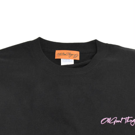O.G.T L/S T-SHIRTS (Sing-Neon) BLACK
