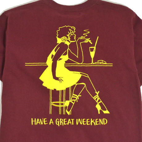 OldGoodThings S/S T-SHIRTS (WEEKEND) BURGUNDY