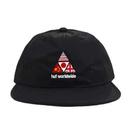 HUF 6PANEL CAP (STADIUM OFFSIDE) BLACK
