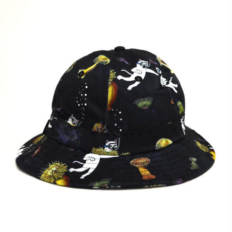 RIPNDIP BUCKET HAT (SCUBA NERM) BLACK