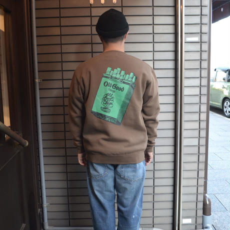 OldGoodThings CREWNECK SWEAT (Cigarettes) D.BROWN