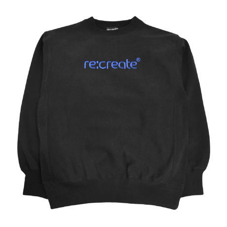 re:create CREWNECK SWEAT (OROGINAL LOGO) BLACK