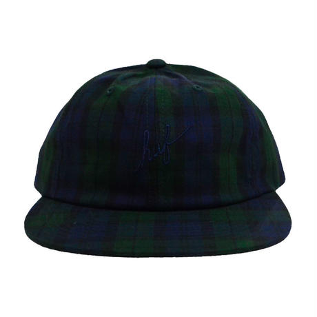 HUF 6PANEL CAP (TARTAN SCRIPT) GREEN CHECK