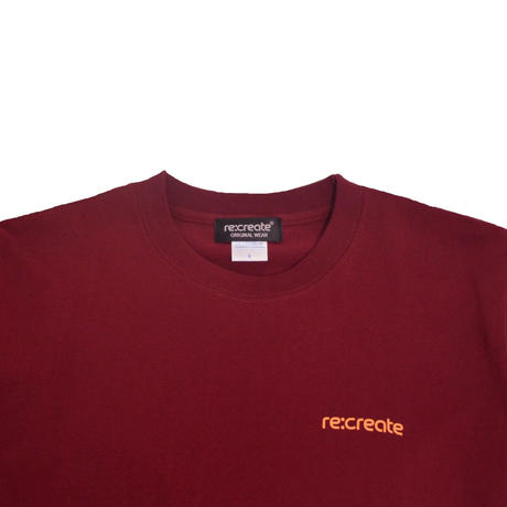 re:create S/S T-SHIRTS (REAL WORDS) BURGUNDY