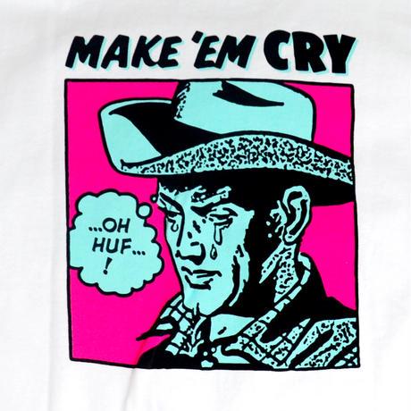 HUF S/S T-SHIRTS (MAKE EM CRY DUDE) WHITE
