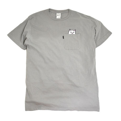 RIPNDIP S/S POCKET T-SHIRTS (LOUD NERMAL) COOL GREY