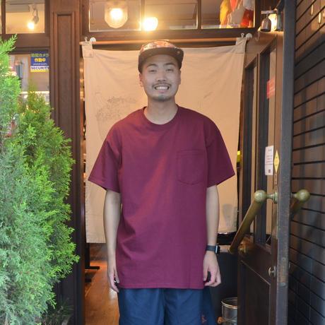 re:create (S/S 無地 POCKET T-SHIRTS) BURGUNDY