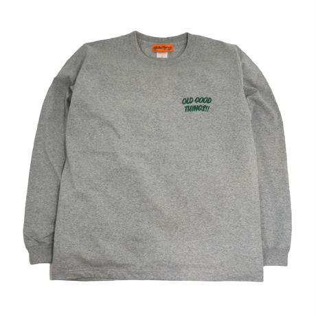 OldGoodThings L/S T-SHIRTS (OGT EMB) GREY