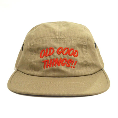 OldGoodThings 5PANEL CAP (ORIGINAL LOGO) KHAKI