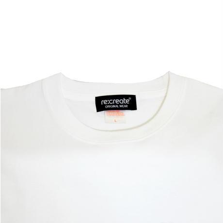 re:create L/S T-SHIRTS (KAMO) WHITE