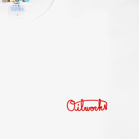 OILWORKS S/S T-SHIRTS (OILMARK x JUNES K WHITE