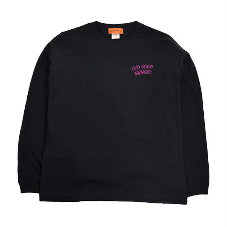 OldGoodThings L/S T-SHIRTS (OGT EMB) BLACK