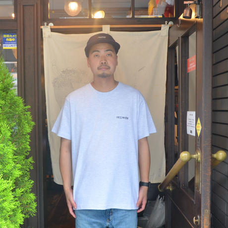 re:create S/S T-SHIRTS (REAL WORDS) ASH GREY