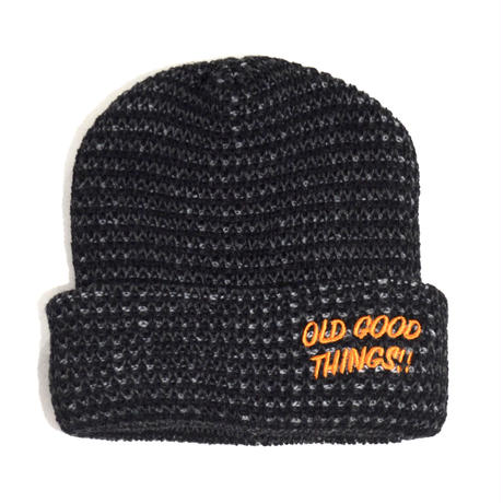 OldGoodThings  WATCH CAP(GOOD PLAYER)HEATHER BLACK