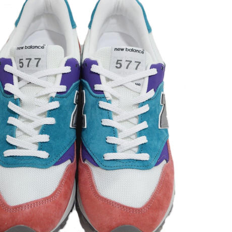 NEW BALANCE (M577 MADE IN ENGLAND) TEAL/RED